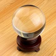 OwnMy Crystal Ball Photography Meditation Ball Contact Juggling Glass Sphere Display with Stand (100mm / 3.94